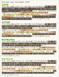 メイリオ・メイリオ改・MeiryoKe_Gothic・MS ゴシック Firefox2.0.0.02