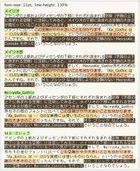 メイリオ・メイリオ改・MeiryoKe_Gothic・MS ゴシック IE6.0